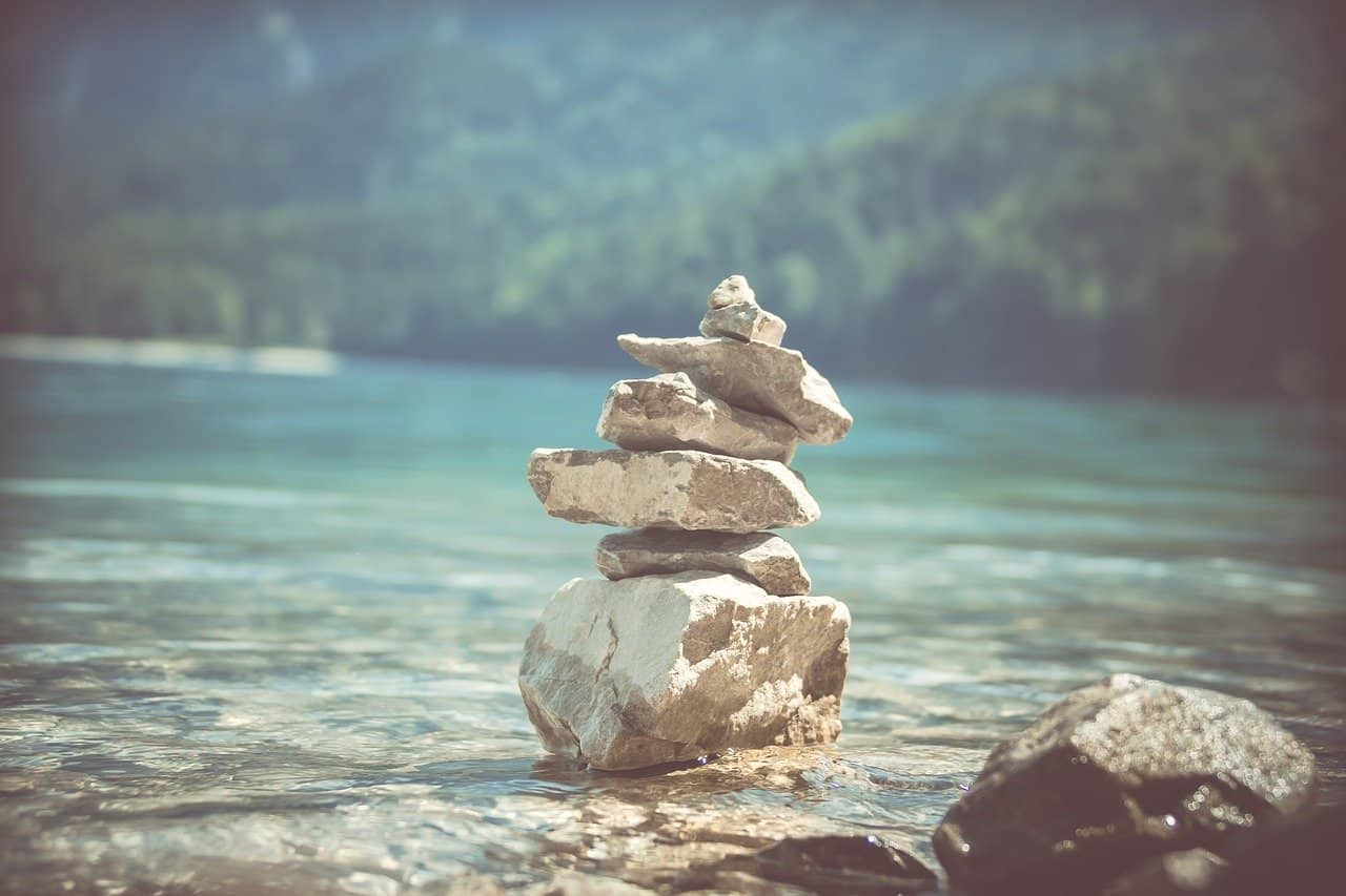 stones piled up to represent strength and growth in the fertility journey