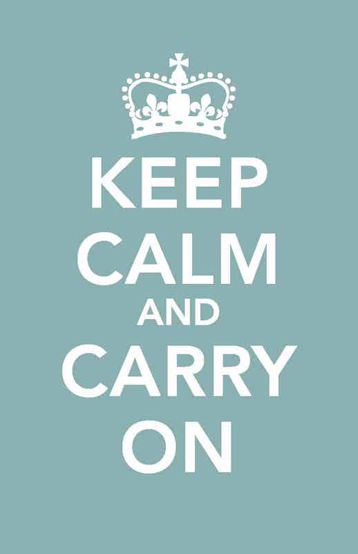 Oxford hypnobirthing keep calm and carry on image